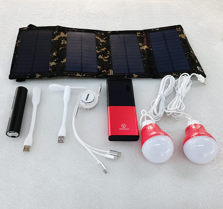 Small solar power bank kit solve big problems